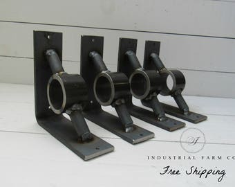 Industrial Style Shelf Brackets for Shelving, Mantles, Countertops in Heavy Duty Steel