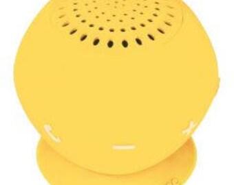AUDIOSOURCE SP2YEL Sound pOp 2(TM) Water-Resistant Bluetooth(R) Speaker (Yellow)