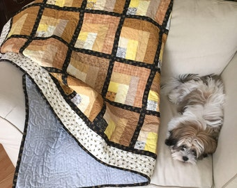 Bumblebee Block Quilt - Twin Size