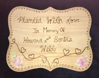 Wood burnt plaque