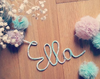 Decorative name Word liberty to order