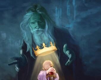 King Arthur, illustration of a legend