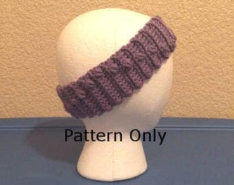 Crochet Headband Puff Stitch Pattern - Womens Crochet Head Band - Instant Digital Download - Crochet Earwarmer PDF - Girls Earwarmer Pattern