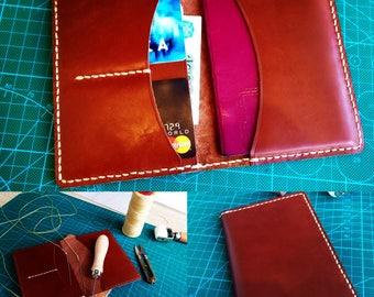 Leather Passport Wallet-Leather Passport Wallet