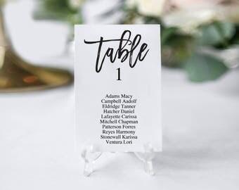 Wedding Table Numbers | Printable Wedding Table Numbers | Rustic Wedding Table Numbers | Printable Table Numbers | DIY Table Numbers Cards