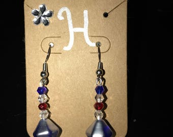 Red white and blue dangles