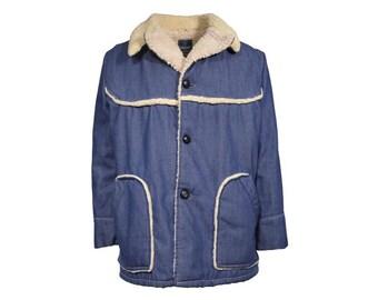 Shearling Denim Coat - Men's Size 42
