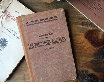 Antique French Book / Vintage Home / Antique Decor / Vintage French / French Antique