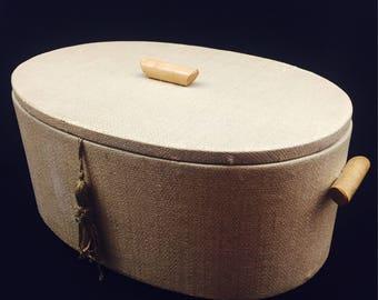 Vintage basket, sewing, sewing, 50s, basket, box, mid century