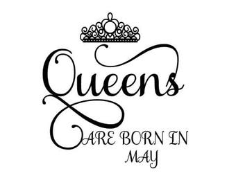 Queens are Born in May SVG Crown