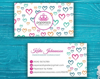 Paparazzi Business Card, Custom Paparazzi Accessories Business Card, Fast Free Personalization, Printable Business Card PP45