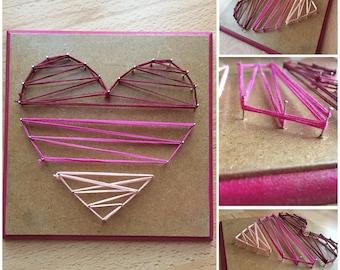 String art heart