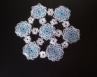 Small doily spiral beads