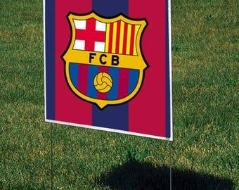 FC Barcelona Yard Sign