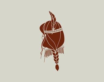 Indian stencil. Stencil squaw (ref 458)