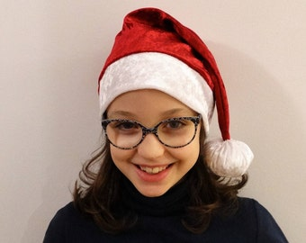 Child Santa hat. Hand-made Hat Santa Claus. Adult Santa hat.