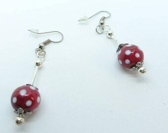 """Two little ladybugs"" earrings"