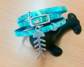 multicolored leather bracelet