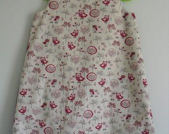 """Pretty winter dress """"Little owls"""" T 4 years"""