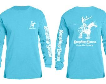 Sunshine House Surf Tee L/S LAGOON BLUE  L