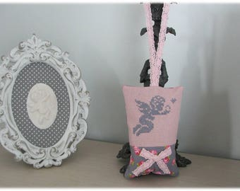 Floral scent with Lavender embroidered Angel design and fabric cushion