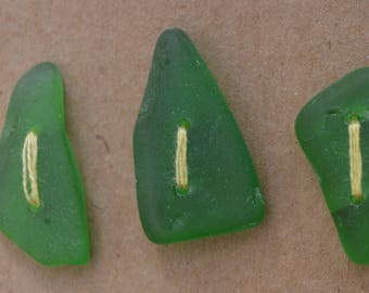 Sea glass buttons
