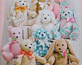 Simplicity 8044 pattern for bears, rabbits and dogs