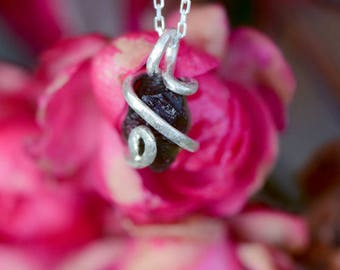Moldavite and Silver 925 necklace