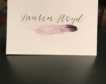 Feather Notecard