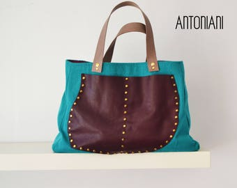handbag, bag, leather bag