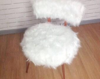 White fur Chair