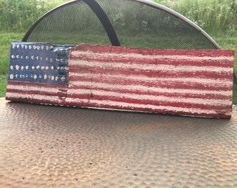 Reclaimed Barn Wood American Flag