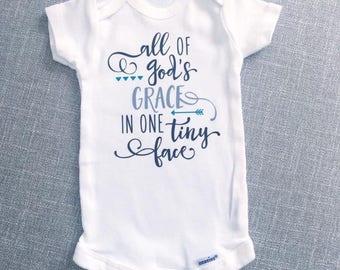 All of God's Grace Onesie® | Baby Onesie® | Baby Boy Onesie® | Baby Girl Onesie® | Infant Clothes | Custom Onesie® | Bodysuit | Baby Gift