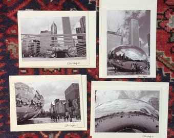 """Pack of 4 """"Chicago in Black and White"""" Photography Archival Print Cards"""