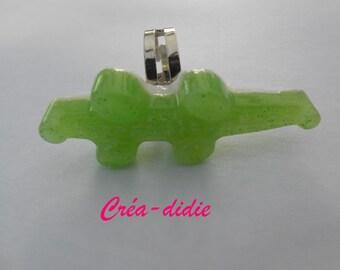 Candy Green crocodile ring