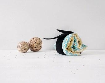Bouillotte à ceinture / Coton vintage / À réchauffer ou refroidir / Graines de lin / Naturelle et écologique / Coutures solides et durables