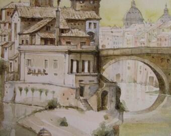 Banks-Original watercolor