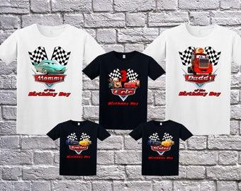Custom Cars birthday shirt, Cars Birthday T-Shirt, Cars Name Age, Personalized Cars shirt, Cars Birthday Party, Lightning McQueen