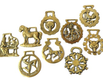 Horse brass buckles | English brass, Equestrian, instant collection, harness, for sale individually