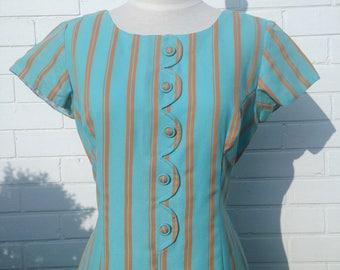 1960s/1970s Striped Mini Dress