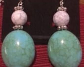 Turquoise (arcylic) Drop Earrings