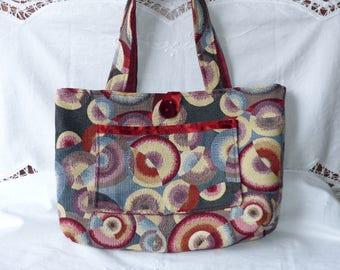 Thick Jacquard fabric handbag