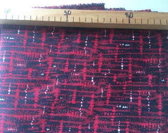 Red and black cotton fabric