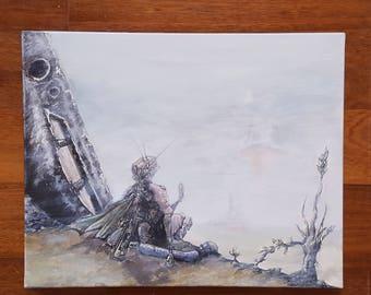 40x50cm Acrylic Painting - Wondering Hero