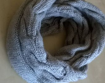 Hand knitted big snood Cap shoulder woman