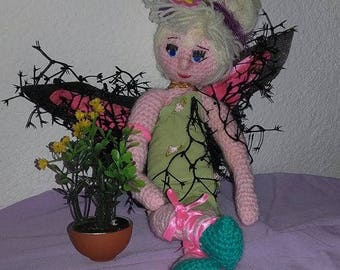 Adorable little Tinkerbell wool crocheted