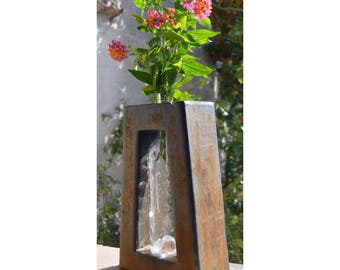 Vase bottle or jar recycling upcycling