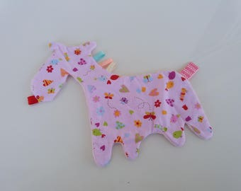 Flat donkey pink fluffy for girl