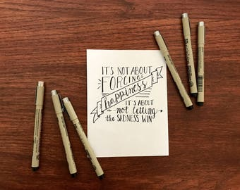 Happiness Quote Calligraphy