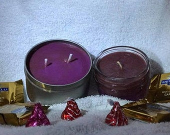 Homemade Soy Wax Candle - Chocolate Covered Strawberry